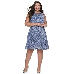 02e3df98282 Plus Size Apt. 9 Stretch Lace Fit and Flare Dress