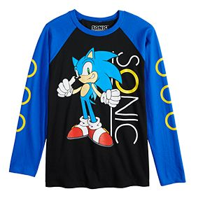 Boys 4-7 Sonic with Rings Long Sleeve Shirt