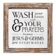 Stratton Home Decor Wash Your Hands Say Your Prayers