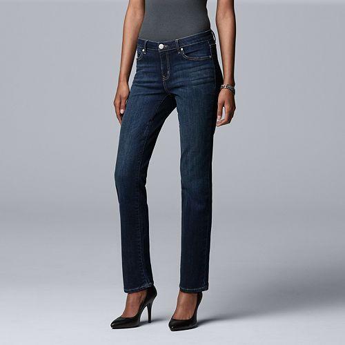 Women's Simply Vera Vera Wang Power Stretch Straight-Leg Jeans
