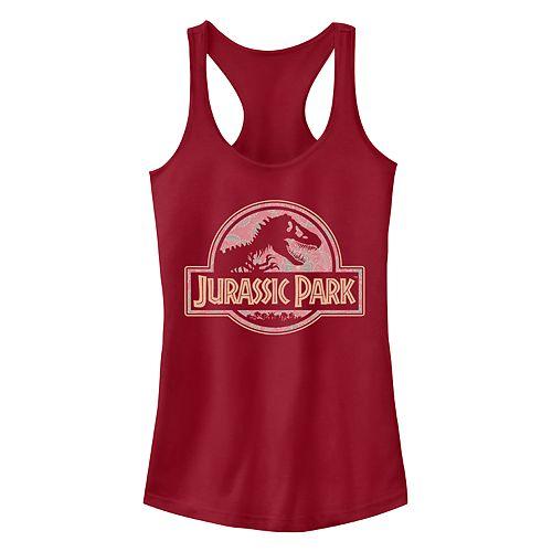 Juniors' Jurassic Park Desert Park Ideal Racerback Tank Top