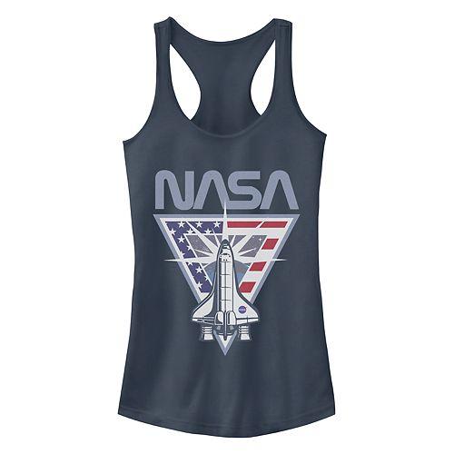 "Juniors' ""NASA"" Shuttle Logo Racerback Tank Top"