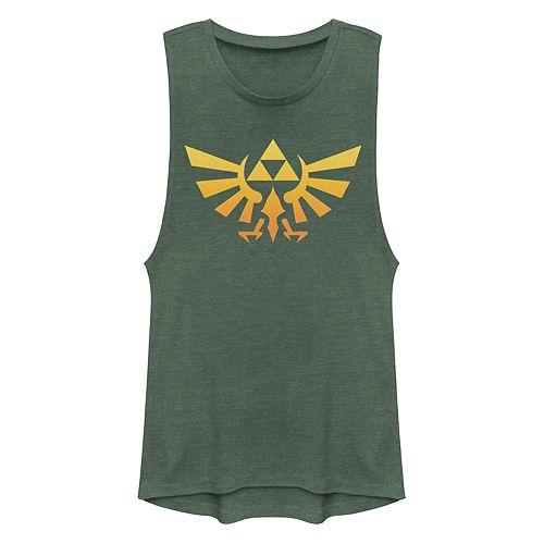 Juniors' Legend of Zelda Gradient Triforce Symbol Muscle Tank Top