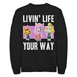 Juniors' Nintendo Animal Crossing Living Life Crew Fleece