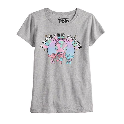 "Girls 7-16 Dreamworks Trolls ""Forever Shine"" Graphic Tee"