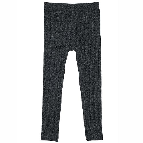 Girls 4-14 Elli by Capelli Skinny Cable Fleece-Lined Seamless Leggings