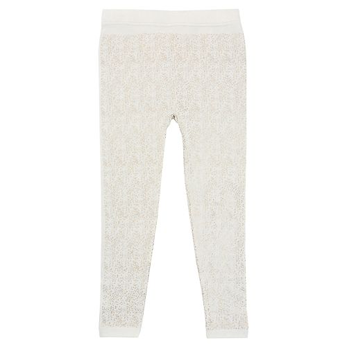 Girls 4-14 Elli by Capelli Spray Printed Fleece-Lined Seamless Leggings