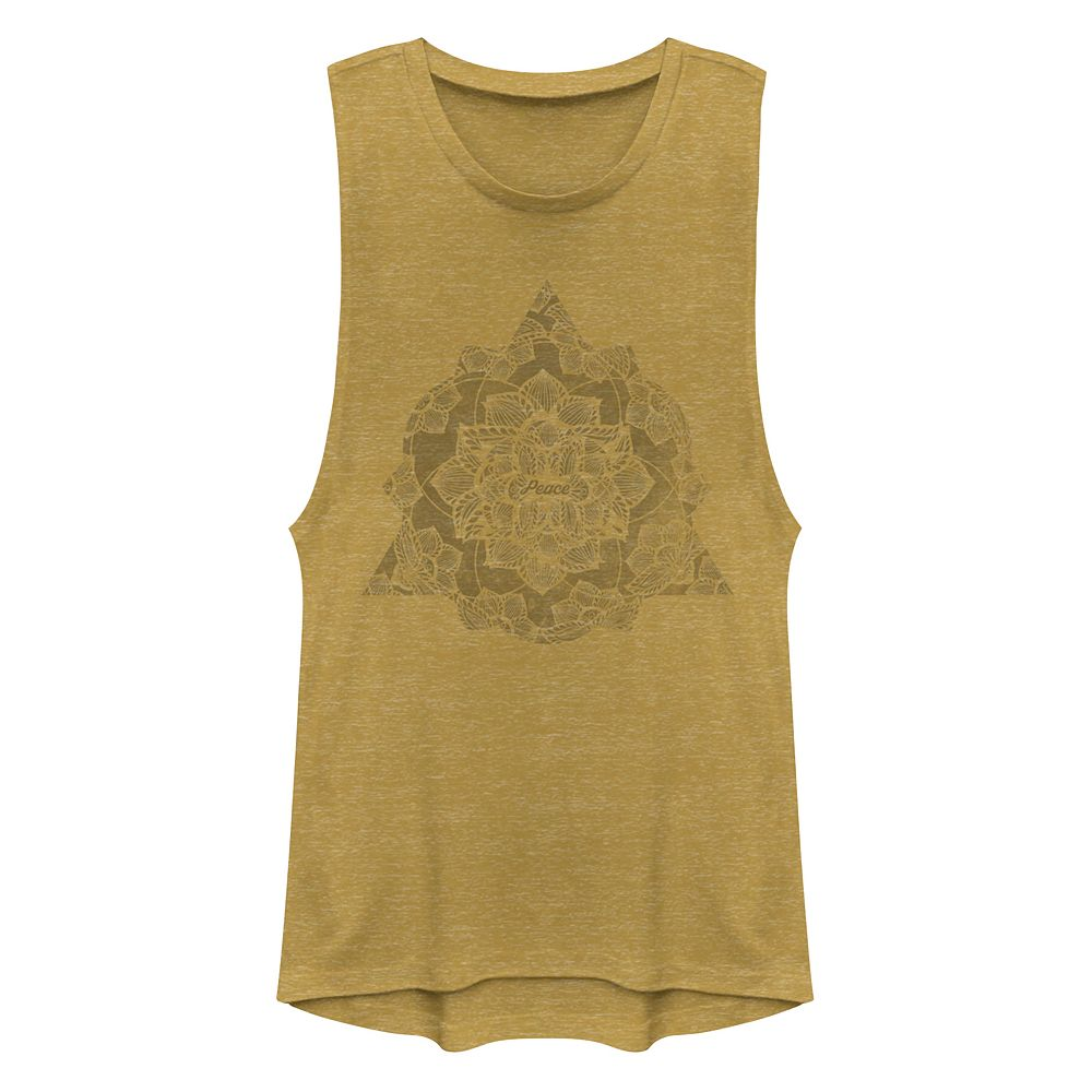 Juniors' Peace Henna Muscle Tank Top