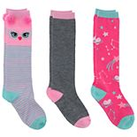 Girls 4-16 Elli by Capelli 3-Pack Cute Knee Highs