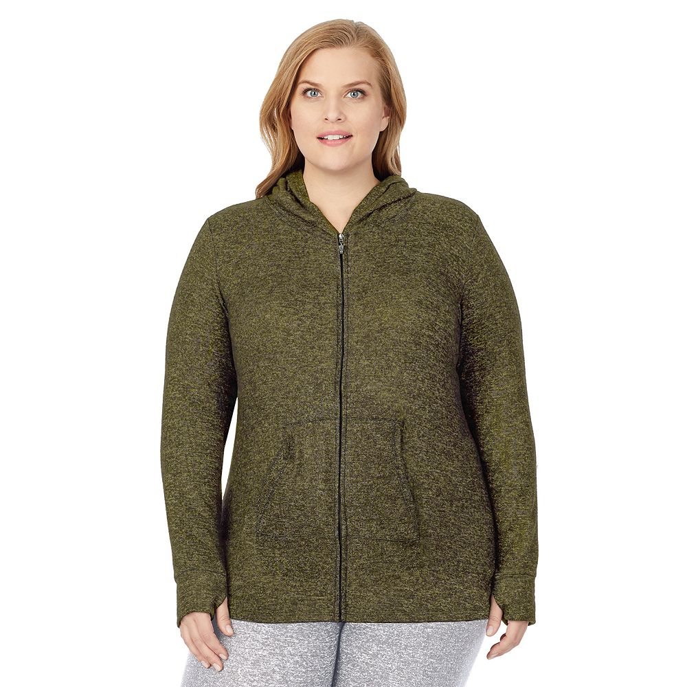 Plus Size Cuddl Duds® Soft Knit Full Zip Hoodie