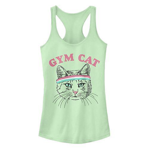 Juniors' Fifth Sun Gym Cat Racerback Tank Top