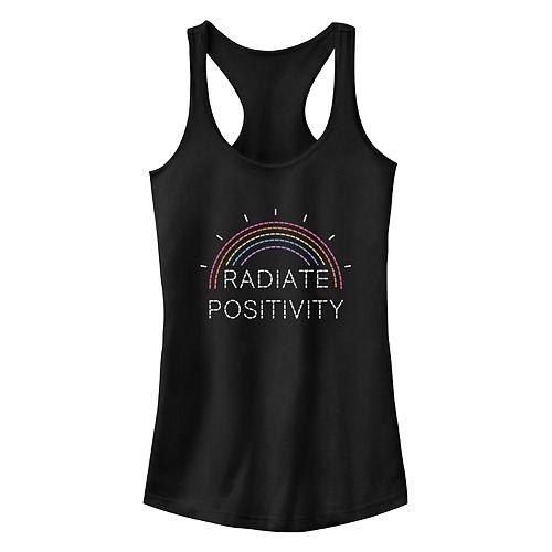 """Juniors' Fifth Sun """"Radiate Positivity"""" Racerback Tank Top"""