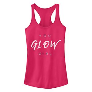 "Juniors' Fifth Sun ""You Glow Girl"" Racerback Tank Top"