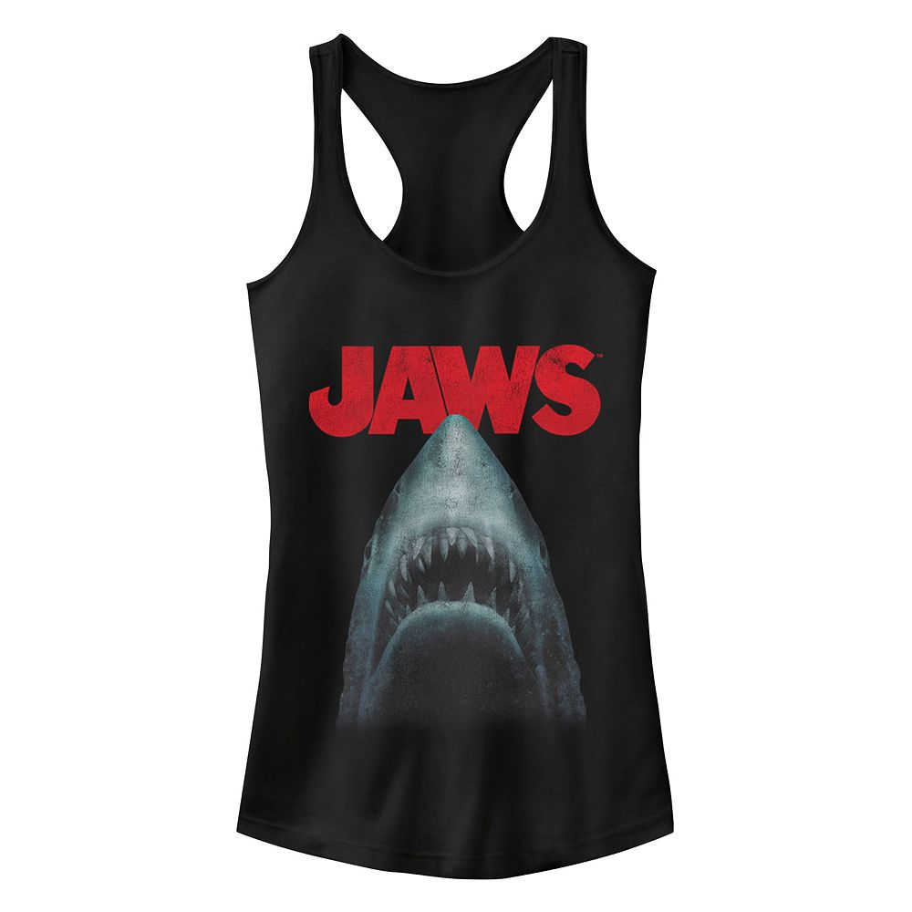 Juniors' Jaws Out Of Water Racerback Tank