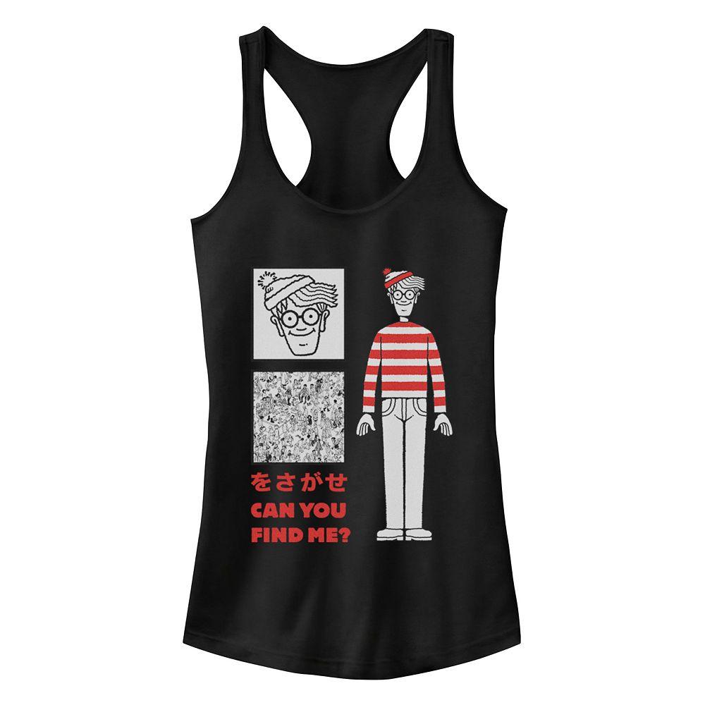 Juniors' Where's Waldo? Where's Wally? Kanji Racerback Tank