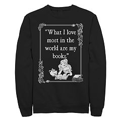 Juniors' Beauty And The Beast Book Lover Crew Fleece