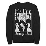 "Juniors' Disney's Princesses ""Bad Fun"" Crew Fleece"