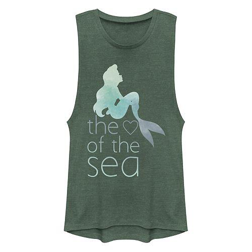 "Juniors' Disney's The Little Mermaid ""Heart of the Sea"" Muscle Tank Top"