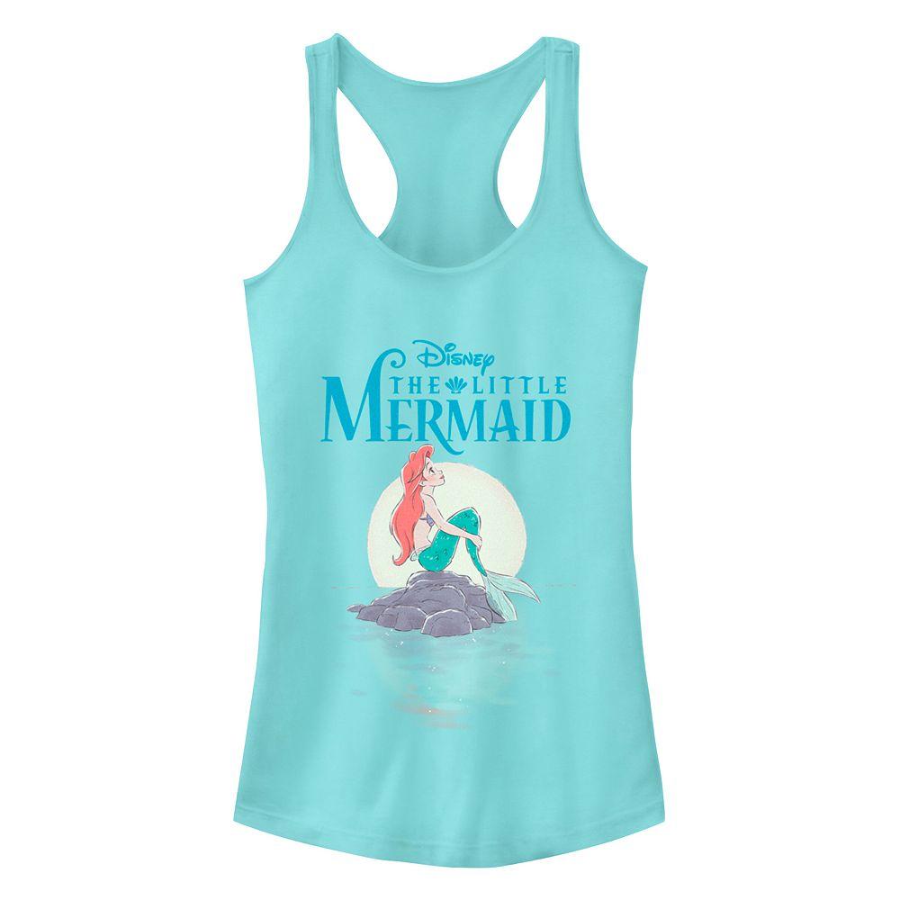 Juniors' Disney's The Little Mermaid Watercolors Racerback Tank Top