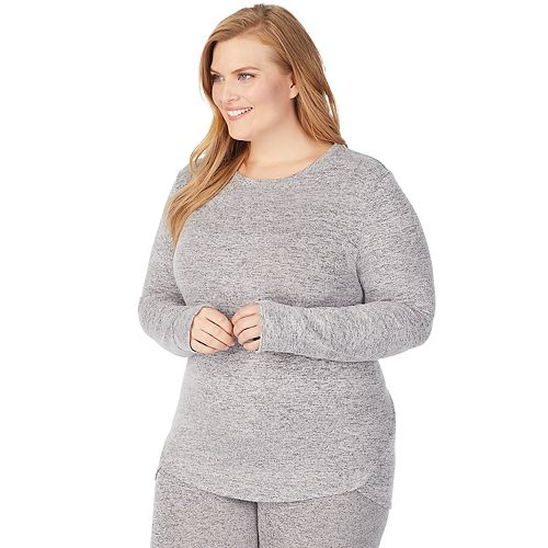 Plus Size Cuddl Duds® Soft Knit Long Sleeve Crew
