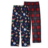 Boys 6-16 Cuddl Duds® 2-Pack Pajama Pants