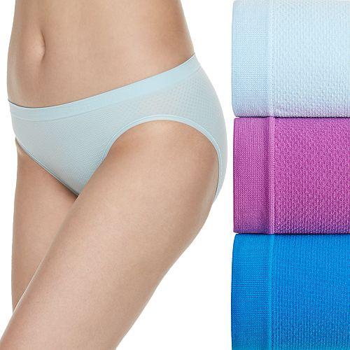Women's Fruit of the Loom® Signature 3-pack Breathable Seamless Bikini Panties-3DBSBIK