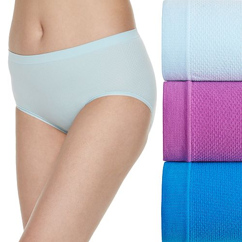 Women's Fruit of the Loom® Signature 3-pack Breathable Seamless Low Rise Brief Panties-3DBSLRK