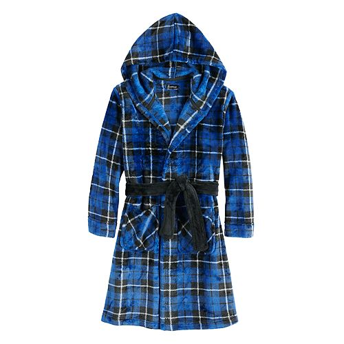 Boys Cuddl Duds® Robe with Hood and Belt
