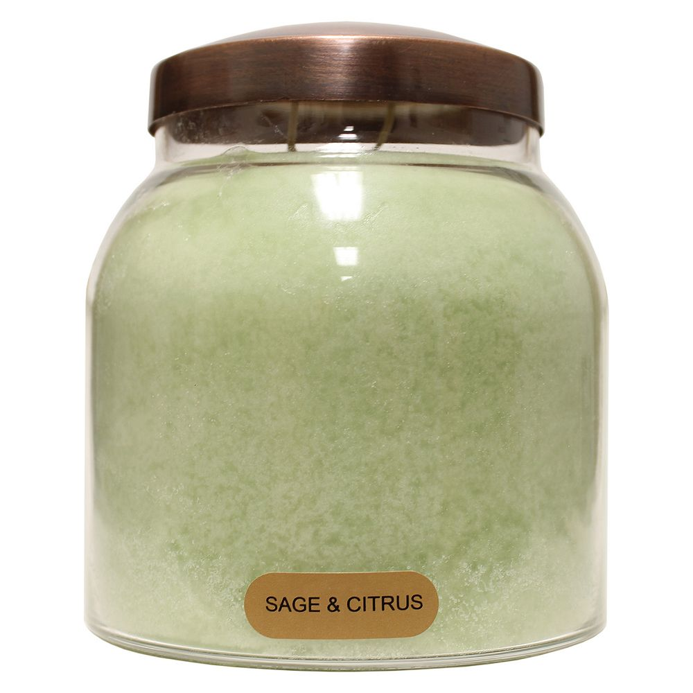 A Cheerful Giver Sage & Citrus 34-oz. Papa Jar Candle
