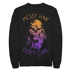 Junior's Star Wars Messy Hairs Crew Fleece