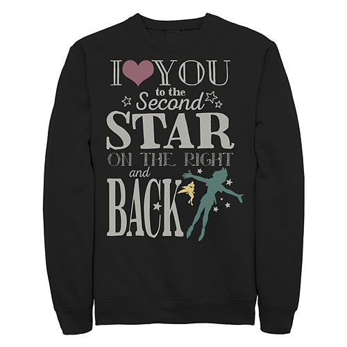 "Juniors' Peter Pan ""Love You to the Star"" Crew Fleece"