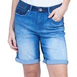 Women's Seven7 Roll-Cuff Weekend Bermuda Jean Shorts