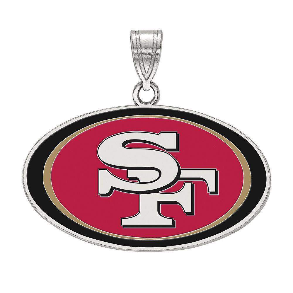 Women's NFL LogoArt Sterling Silver San Francisco 49ers Enamel Pendant