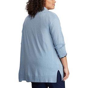 Plus Size Chaps Open Front Cardigan
