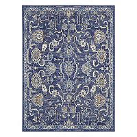 Overstock.com deals on Nourison Grafix Vintage Floral Navy Area Rug - 5x7-ft