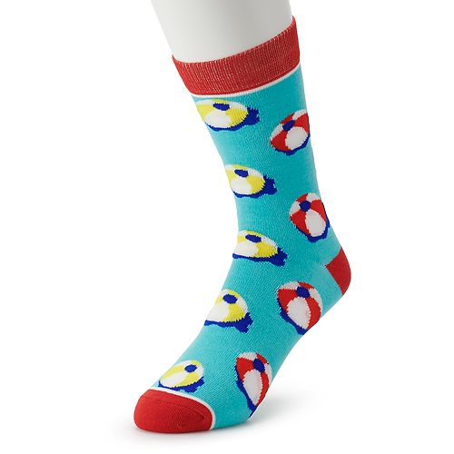 Men's Patterned Novelty Crew Socks
