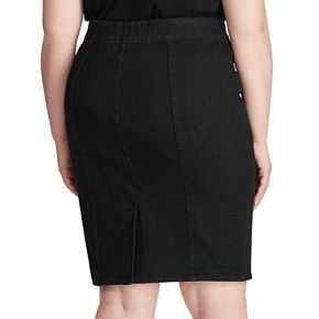 Plus Size Chaps Knee-Length Jean Skirt