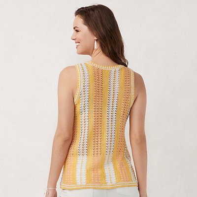 Women's LC Lauren Conrad Pointelle Sweater Tank Top