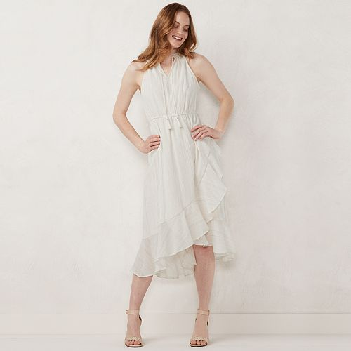 Women's LC Lauren Conrad Halter Ruffle Faux-Wrap Dress