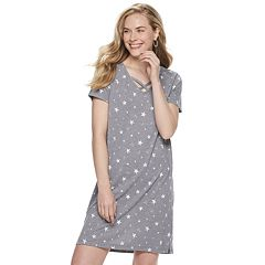 Petite SONOMA Goods for Life™ Print Crisscross T-Shirt Dress