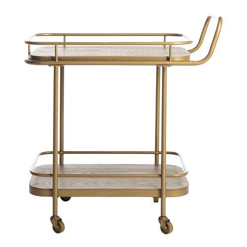 Safavieh Gaia 2-Tier Rectangle Bar Cart