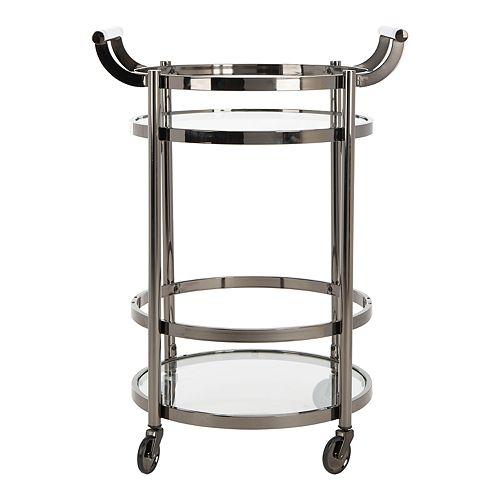 Safavieh Sienna 2-Tier Round Bar Cart