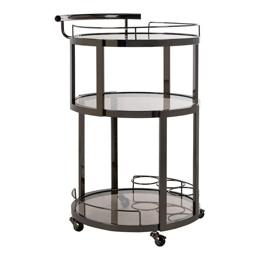 Safavieh Rio 3-Tier Round Bar Cart