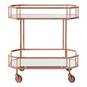 Safavieh Silva 2-Tier Octagon Bar Cart