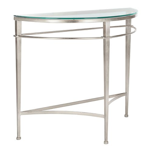 Safavieh Baur Antique Silver Glass Console Table