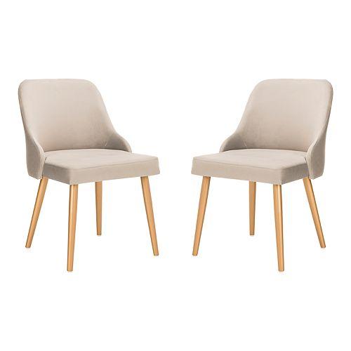 Safavieh Lulu Upholstered Dining Chair 2-Piece Set