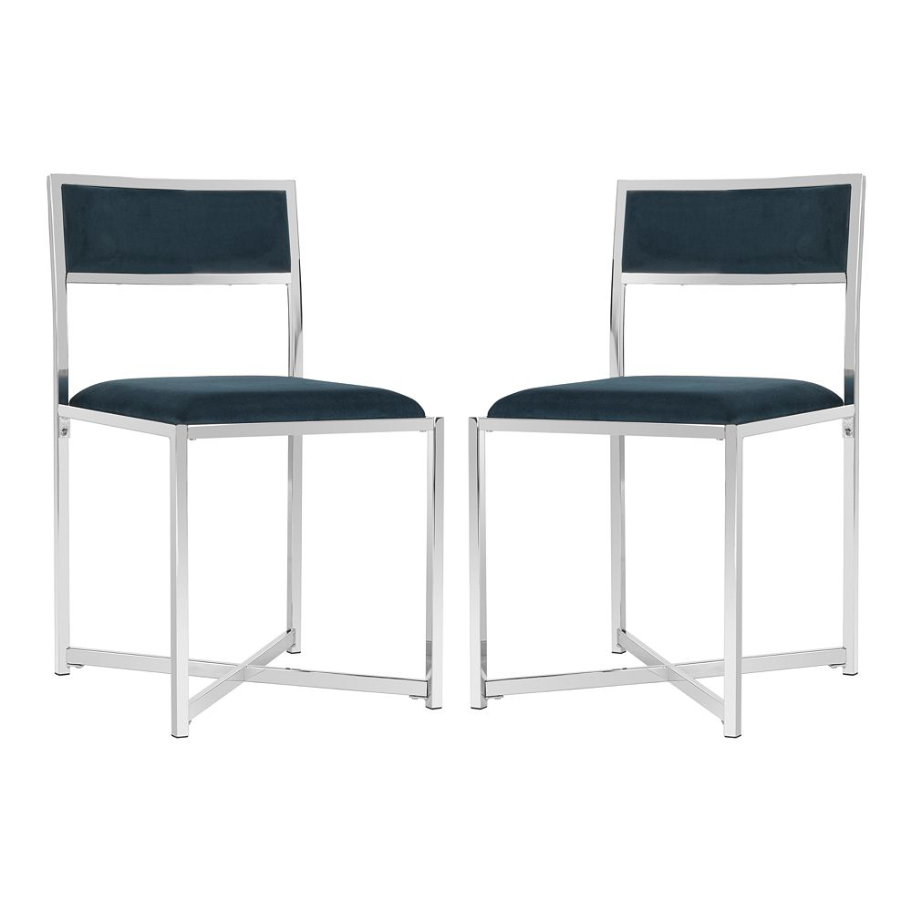 Safavieh Menken Chrome Side Chair