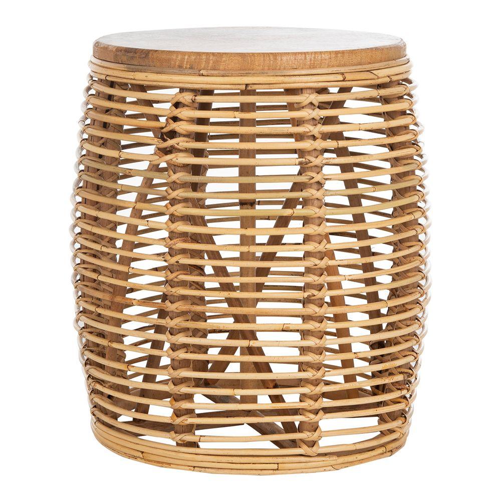 Safavieh Maui Rattan Drum Stool Table