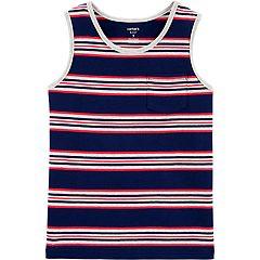 Boys 4-12 Carter's Striped Jersey Tank Top