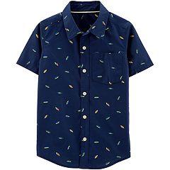 d846fa4b7 Boys 4-12 Carter's Woven Button Down Shirt
